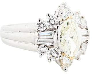 1.03ct Marquise Diamond Engagement Ring