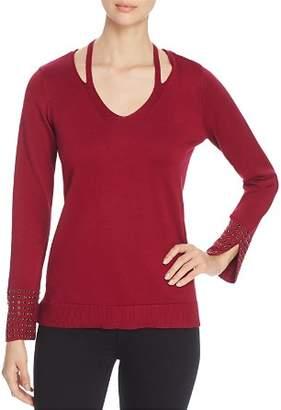 Love Scarlett Studded-Sleeve Sweater