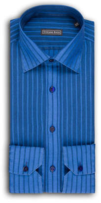 Stefano Ricci Men's Thick-Striped Dress Shirt