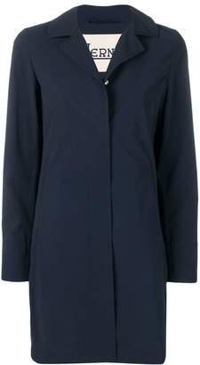 Herno classic lapel raincoat