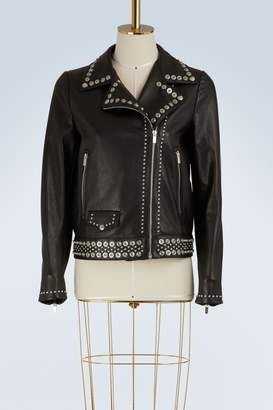 Miu Miu Studded leather jacket