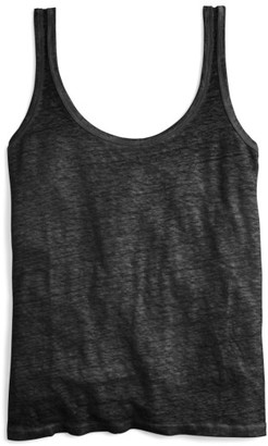 Women's J.crew Scoop Neck Linen Tank Top $29.50 thestylecure.com