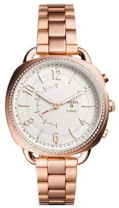 Fossil Women's Q Hybrid Crystal Accented Smart Bracelet Watch, 38mm