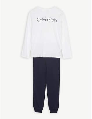Calvin Klein Logo cotton pyjamas 4-16 years