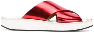 Flamingos flat sole slippers