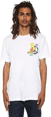 Off-White Off White Slim Fit Bart Printed Jersey T-Shirt
