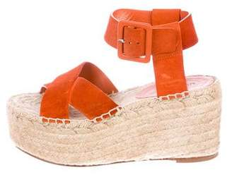 Celine Suede Espadrille Sandals