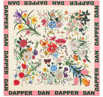 Gucci Dapper Dan Flora silk scarf