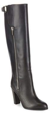 Sergio Rossi Stack Heel Leather Boots