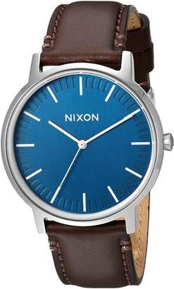 Nixon Men's 'Porter' Quartz Leather Watch, Color:Brown