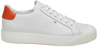 Santoni Sneakers In White Leather