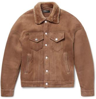 Amiri Shearling Trucker Jacket