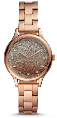 Fossil Laney Three-Hand Rose Gold-Tone Stainless Steel Watch