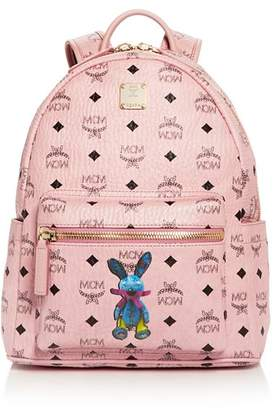 MCM Rabbit Logo Print Small Backpack