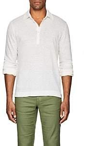 Massimo Alba Men's Linen Slub-Jersey Polo Shirt-Neutral