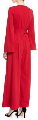 Taylor Split-Sleeve Solid Jumpsuit