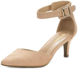 92d3cd1f7323 DREAM PAIRS LOWPOINTED New Women s Evening Dress Low Heel Ankle Strap  D Orsay Pointed Toe