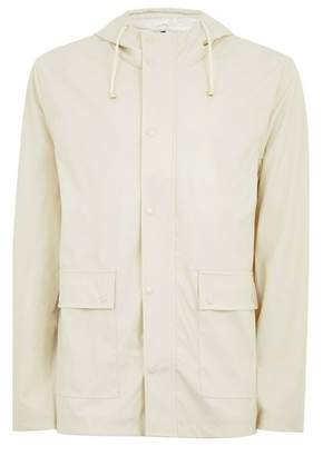 Topman Mens Cream Off White Showerproof Rubberised Jacket
