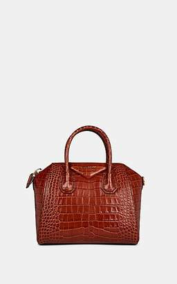 Givenchy Women's Antigona Small Crocodile-Stamped Leather Duffel Bag - Cognac