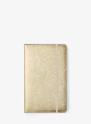 Michael Kors Jet Set Medium Metallic Leather Notebook