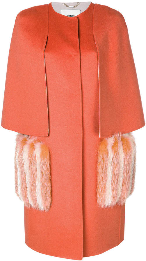 Fendi fitted structured coat