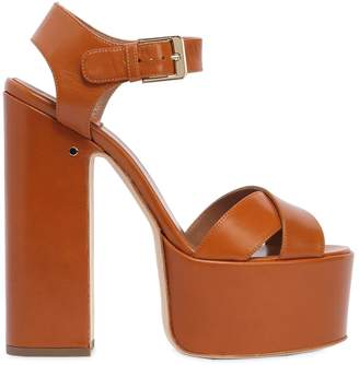 Laurence Dacade 150mm Rosella Leather Platform Sandals