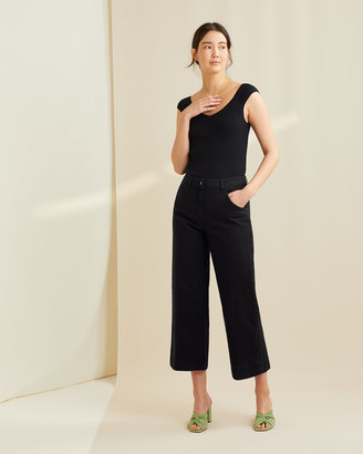 Jigsaw Hoxton Wide Leg Cropped Jeans