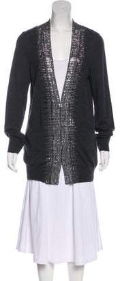 Tory Burch Merino Wool Longline Cardigan