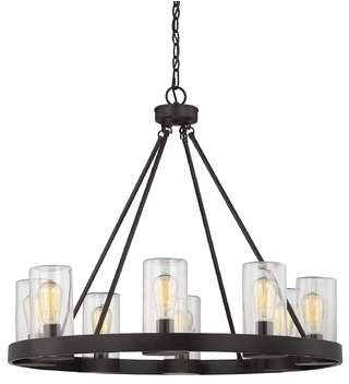 Laurèl Foundry Modern Farmhouse Mount Vernon 8-Light Outdoor Chandelier