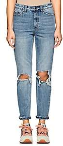 Ksubi Women's Slim Pin Distressed Jeans-Blue