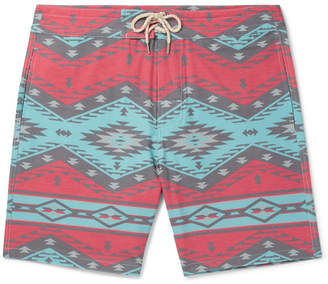 Faherty Topeka Slim-Fit Long-Length Printed Swim Shorts
