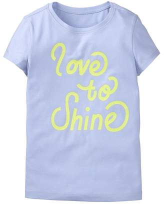 Crazy 8 Sparkle Love To Shine Tee