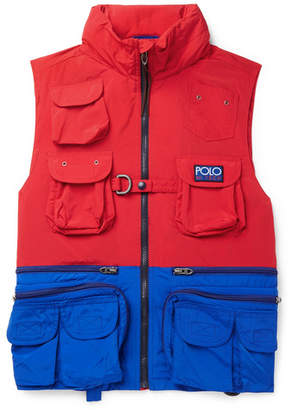 Polo Ralph Lauren Hi-Tech Logo-Appliquéd Colour-Block Shell Hooded Gilet