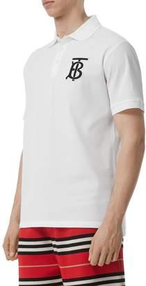 Burberry Patch Cotton Pique Polo Shirt