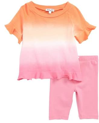Splendid Dip Dye Tee & Leggings Set