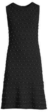 MICHAEL Michael Kors Women's Scalloped Embellished Tank Dress - Black - Size XS