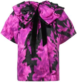 Marc Jacobs printed bow collar top