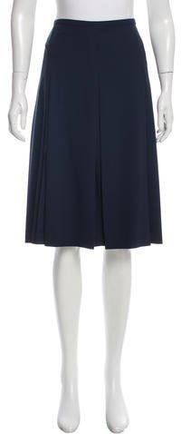 Michael Kors Pleated Virgin Wool Skirt