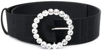 ATTICO crystal embellished buckle belt