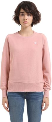 Crewneck Cotton Sweatshirt $129 thestylecure.com