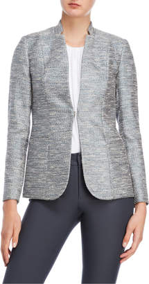 Elie Tahari Tori Metallic Tweed Jacket