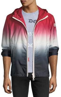 Moncler Hooded Red White Blue Degrade Nylon Jacket