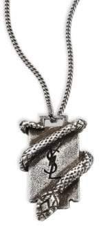 Saint Laurent Razor Blade Pendant Necklace