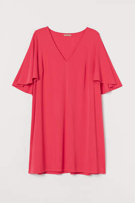 H&M H&M+ Butterfly-sleeved Dress - Red