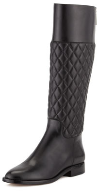 Michael Kors Mina Quilted Leather Knee Boot