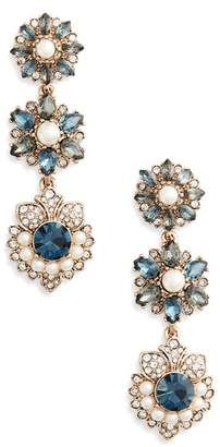 Marchesa Crystal Linear Drop Earrings