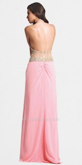 Faviana Sexy Sheer Top Prom Dress