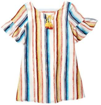 My Michelle mymichelle Brush Stroke Stripe Dress (Big Girls)