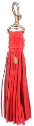 Clare Vivier Leather Tassel Keyring