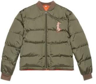Gucci Nylon jacket with rabbit